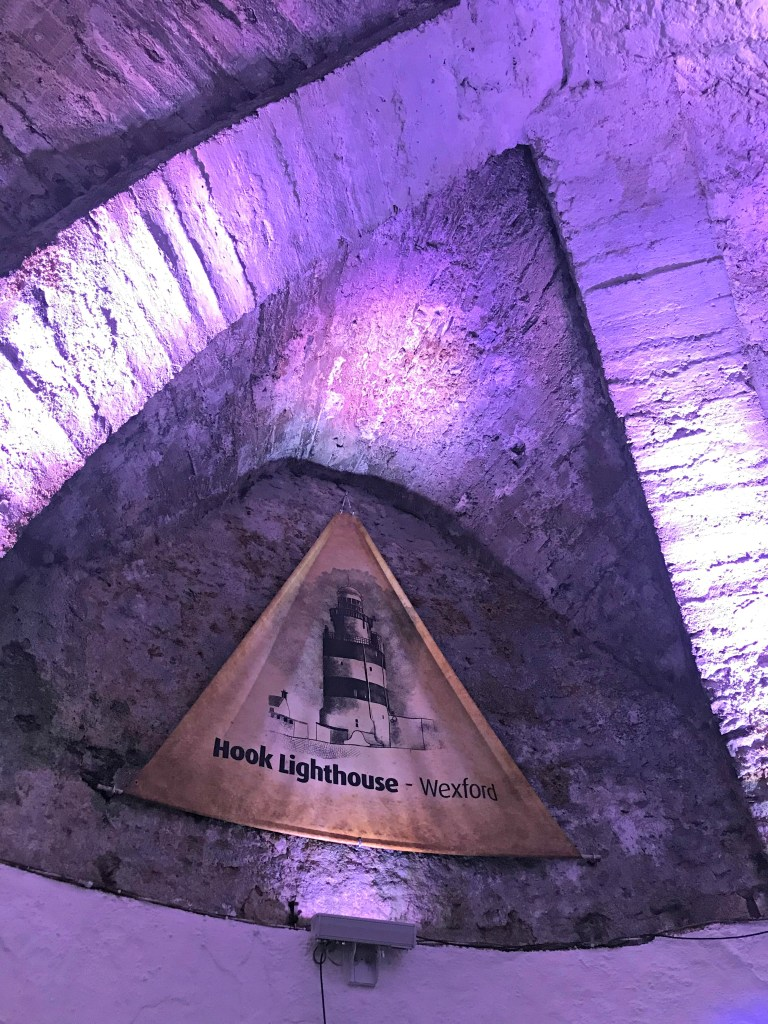 Purple light in the Hook Head Lighthouse