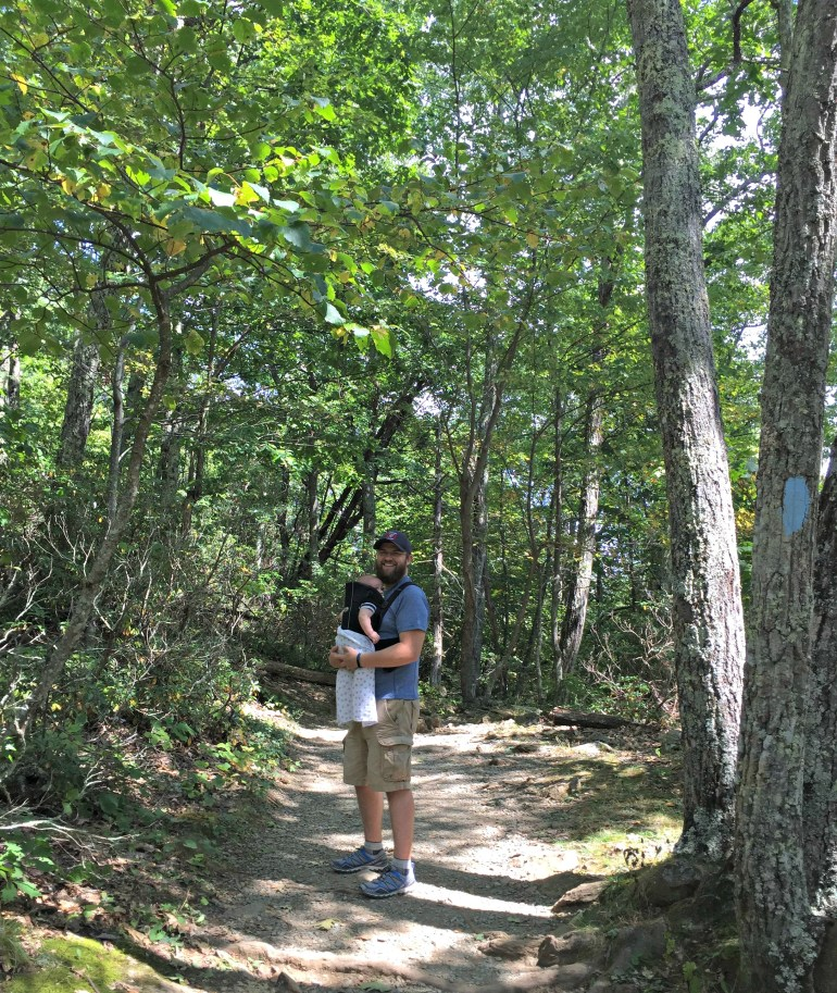 Shenandoah National Park with Babybjorn baby carrier travel with small children
