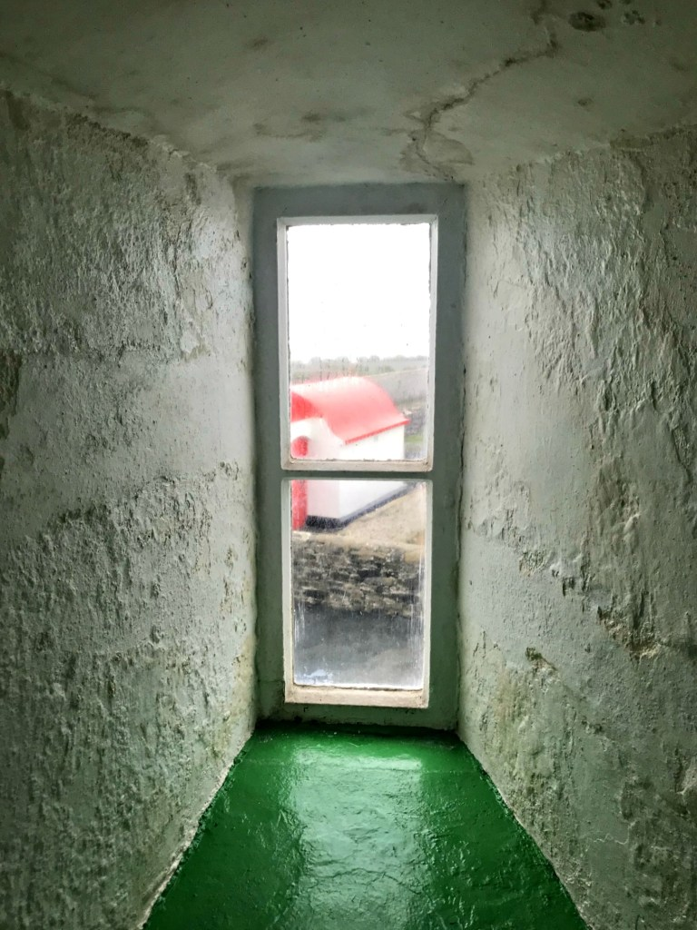 Small window in the Hook Head Lighthouse