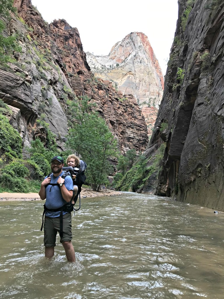 Zion National Park with Deuter Kid Comfort child backpack Travel with small children