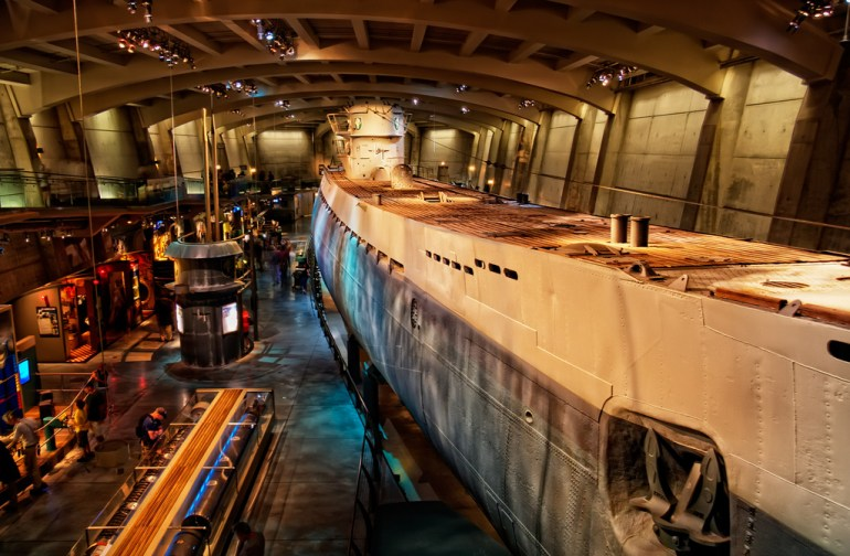 U-Boat at the Museum of Science & Industry-things to do in Chicago indoors with kids