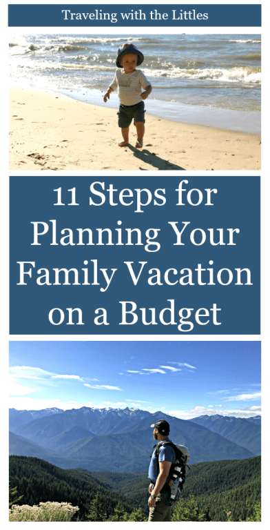 Baby on a beach, father in the mountains-Family Vacation on a Budget-Affordable Family Vacation
