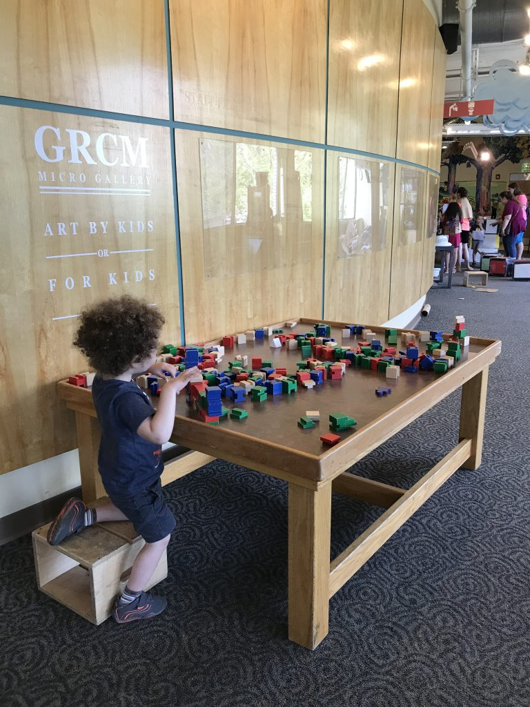 Block table at the Grand Rapids Children's Museum