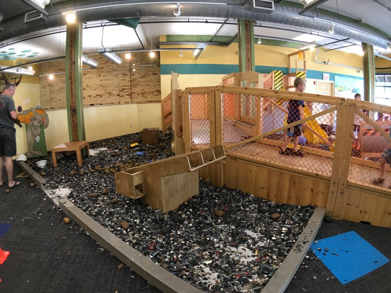Kidstruction Zone gravel pit at the Grand Rapids Children's Museum