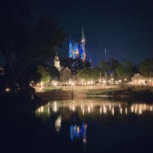 The Castle reflecting on Rivers of America