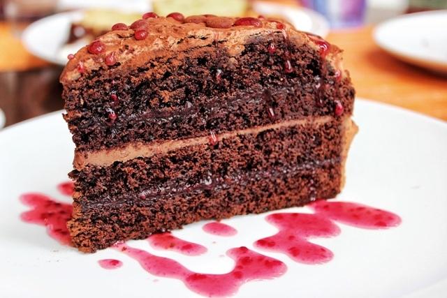 Gordon's Cafe chocolate layer cake