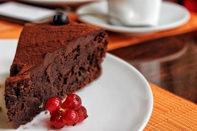 Gordon's Cafe Chocolate fudge cake