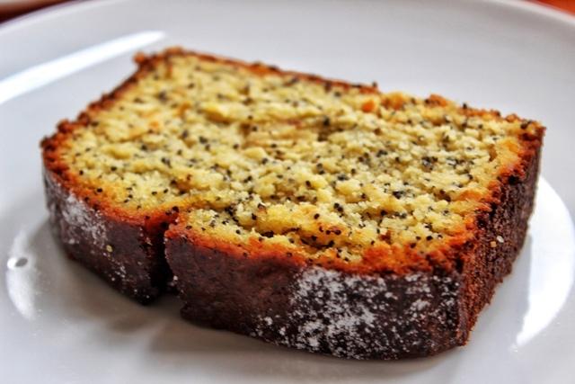 Gordon's Cafe orange poppyseed cake