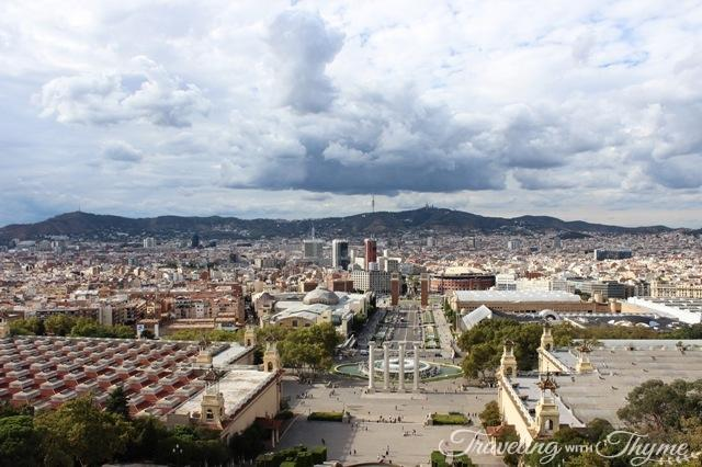 barcelona mnac rooftop view