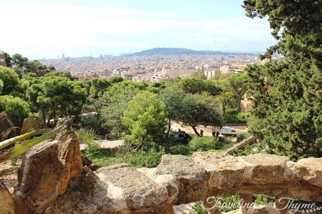 Parc Guell Barcelona View