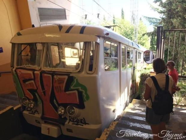 Barcelona Tibidabo Transport Funicular Graffiti