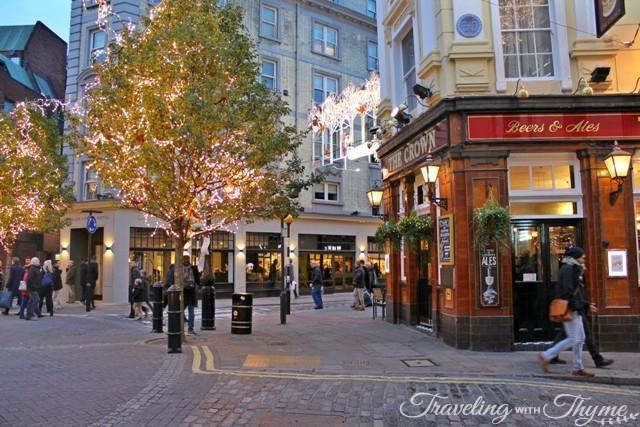 Covent Garden December Christmas London