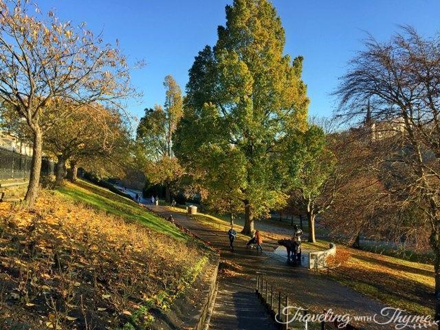 Edinburgh Princes Gardens Sunshine