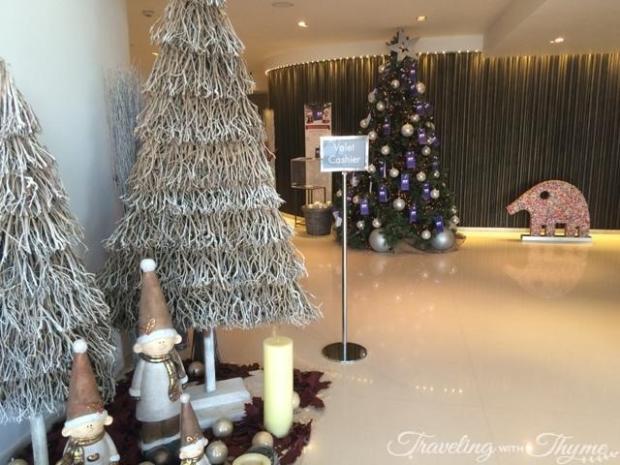 Le Gray Hotel Entrance Christmas