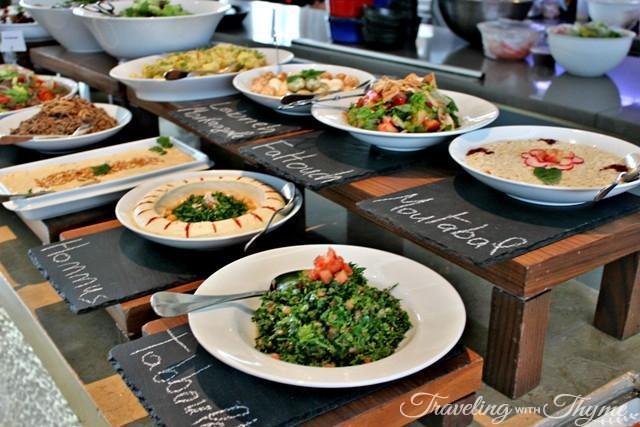 Lebanese cuisine mezze Le Gray Hotel