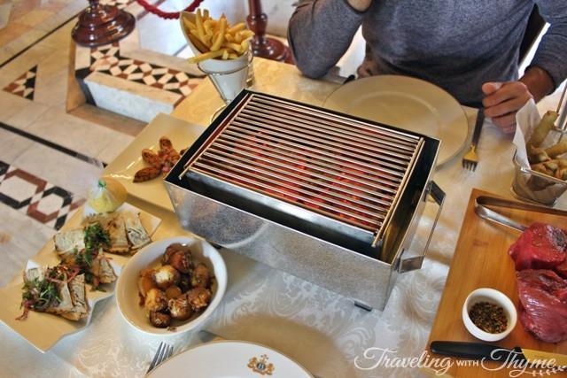 Sunday Lunch at Villa Linda Sursock mezza