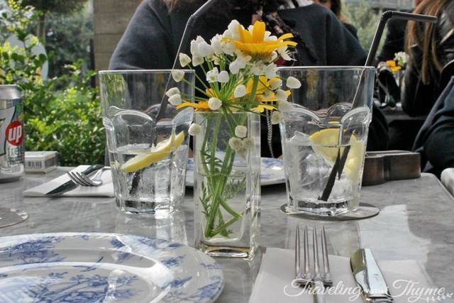 Les Malins Backyard Hazmieh Flowers menu