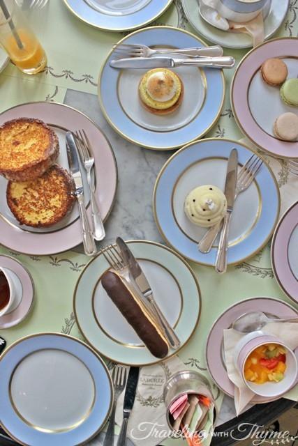 LaDuree Paris patisserie dessert brunch