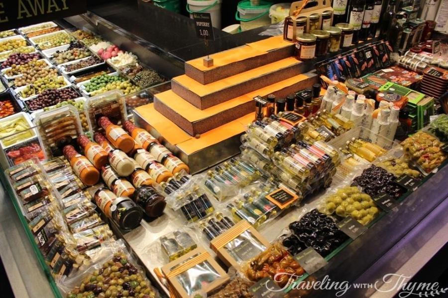 La Boqueria Market Barcelona Olives