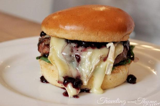 Frosty Palace Diner Burger Brie Blueberry