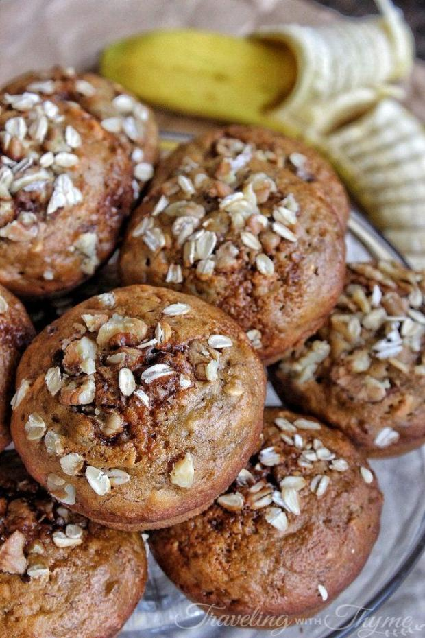 Healthy Banana Muffins Recipe Oatmeal Diet