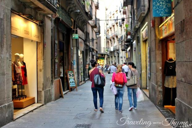 Lost in Gothic Quarter Barcelona