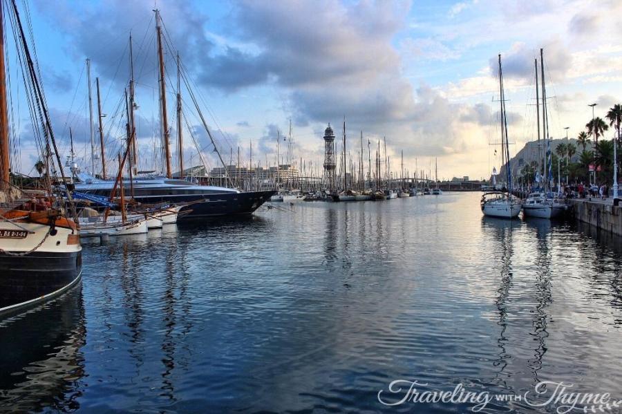 Port Vell Barcelona Marina Scenery