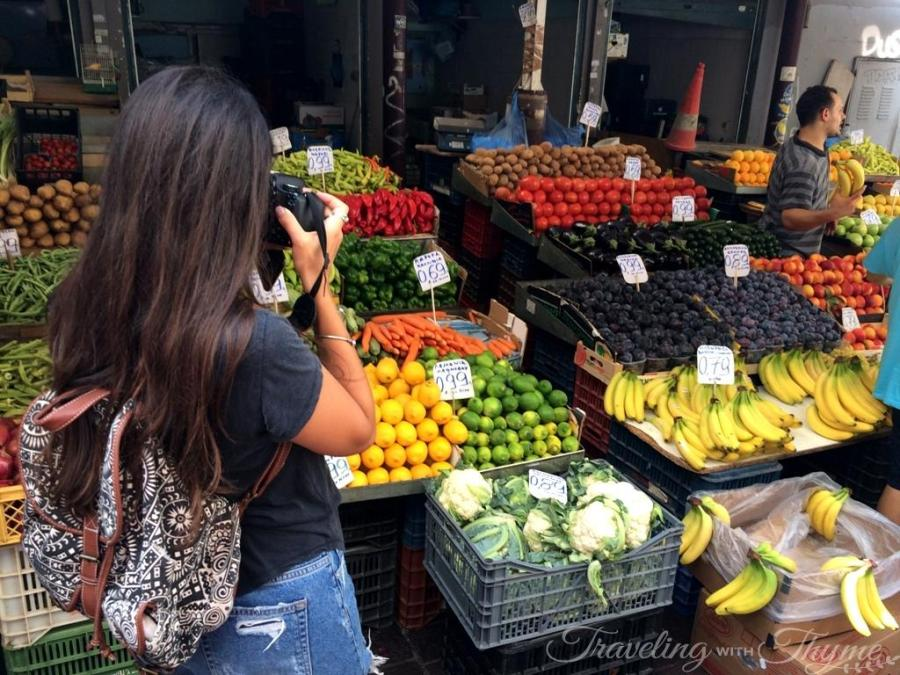Athens Tour Fruit Market Travel Blogger