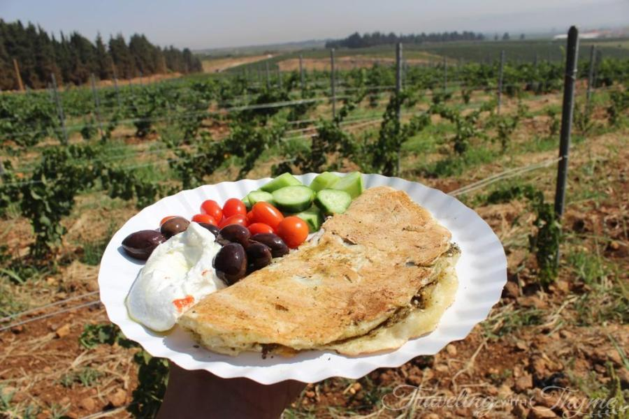 Chateau Ksara Lebanese Breakfast Lebanon Zaatar