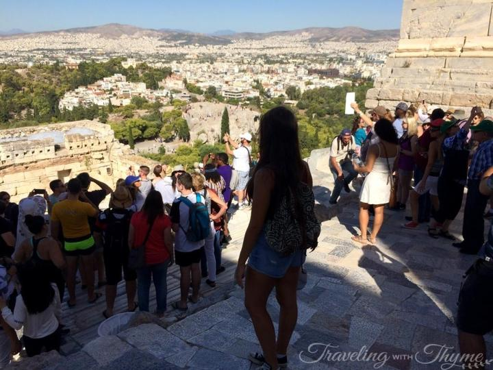 Key Tours Greece Acropolis Crowded Queue