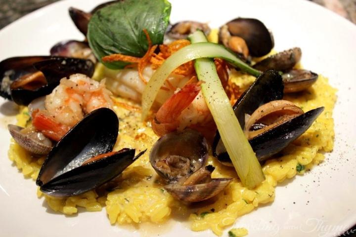 Chez Alain Restaurant Broumana Seafood Risotto