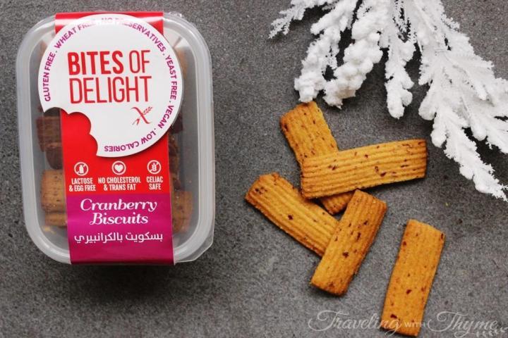 Bites of Delight Cranberry biscuits