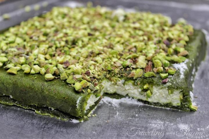 Lebanese Oriental Sweets Mafroukeh Pistachios Ashta