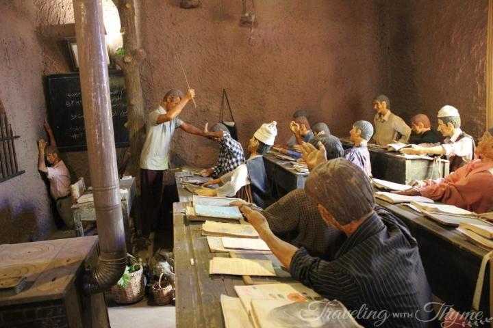 Moussa Museum Maamari Classroom Scene Sculptures