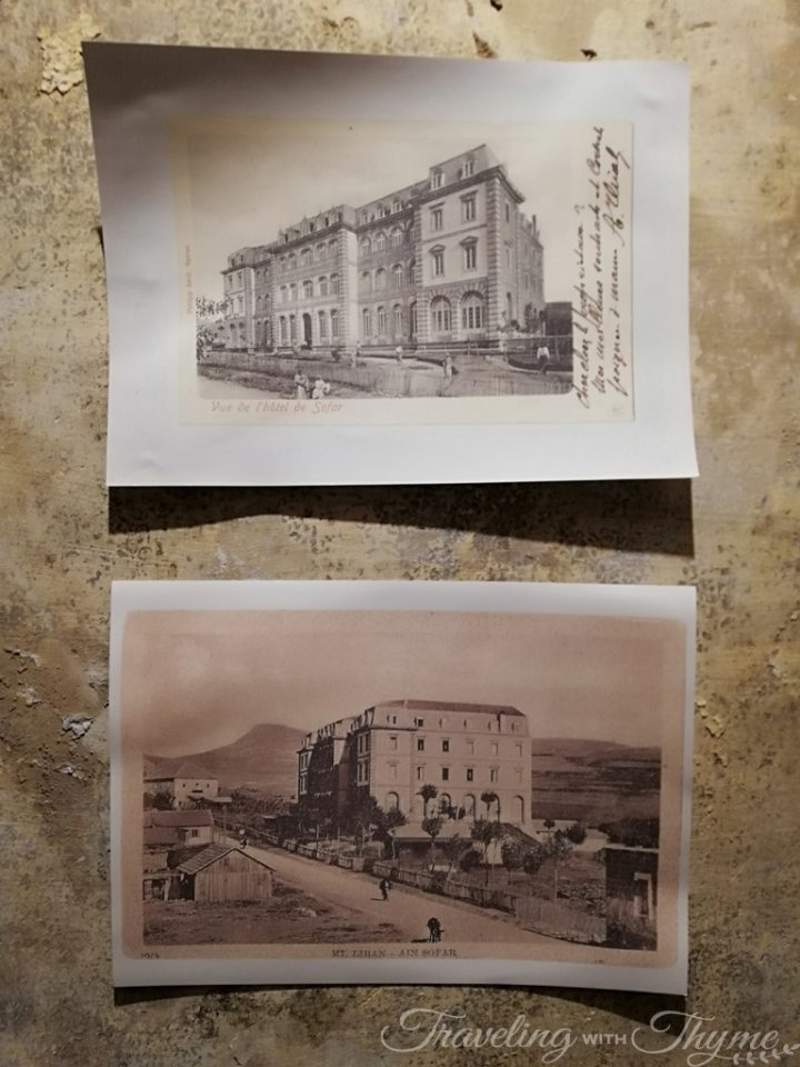 Grand Sawfar Hotel Lebanon Postcard Painting