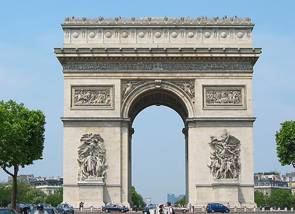 Image result for Arc de Triumph, Paris, France