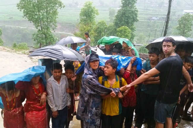 relief work in nepal