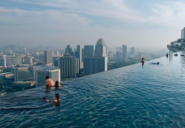 20 Awesome Pools - Infinity pool at Marina Bay Sands Resort