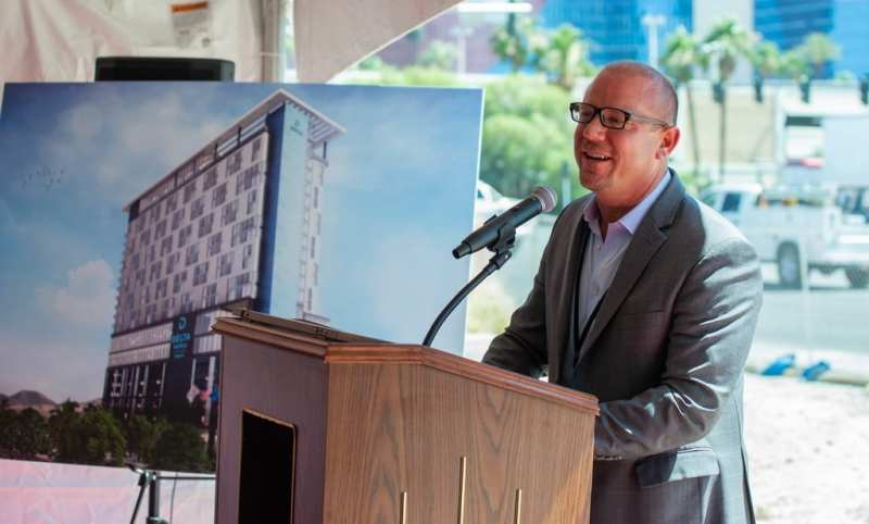 CAI Investments Founder Christopher Beavor at Groundbreaking of Delta Hotels by Marriott