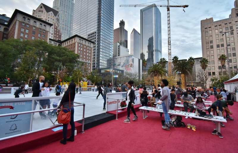 Bai Holiday Ice Rink Pershing Square - DOWNTOWN VIEWS