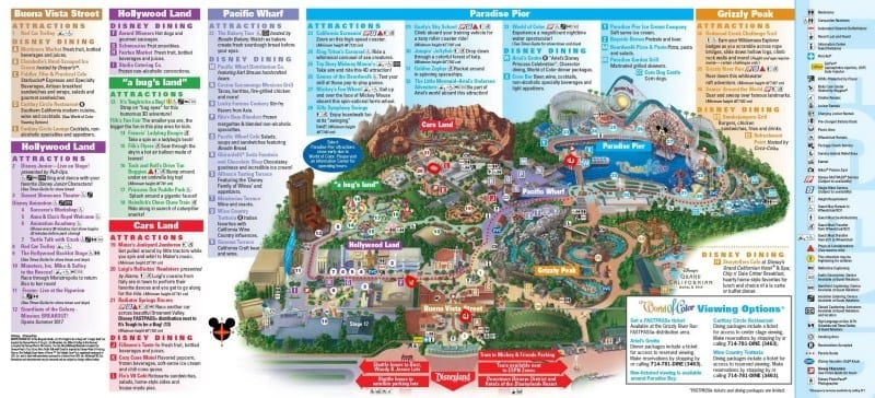 Fuel Rod Disney California Adventure Map