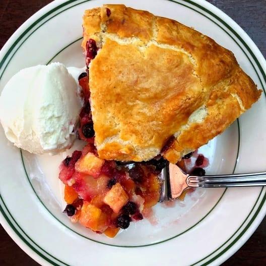 Joe's famous Peach Huckleberry Pie at Joe's Seafood, Prime Steak & Stone Crab