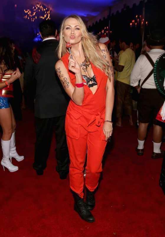 Playmate Irina Voronina attends Playboy Mansion's Annual Halloween Bash