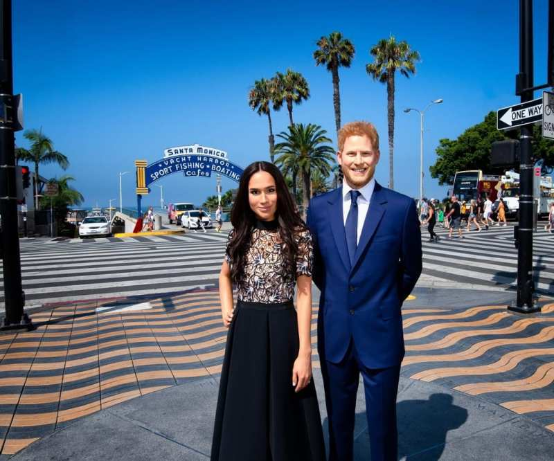 Prince Harry and Meghan Markle at Santa Monica Pier