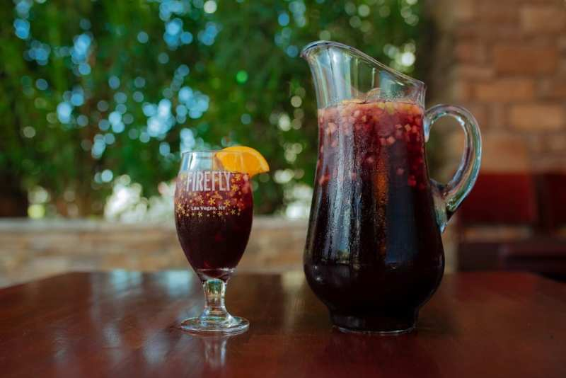 Red Sangria at Firefly Tapas Kitchen & Bar