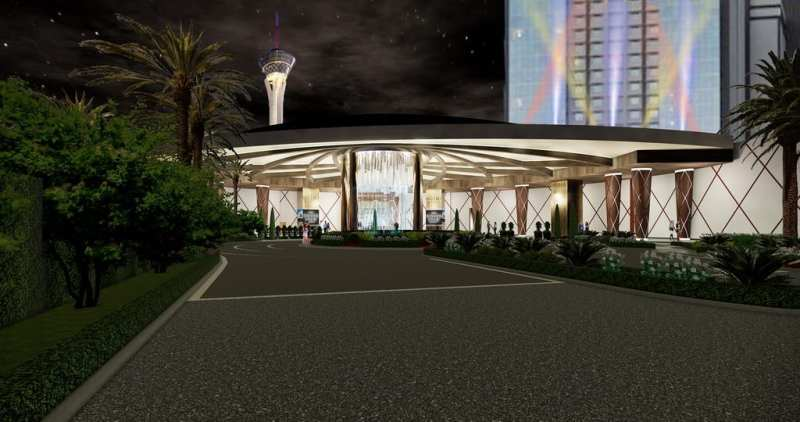 The main porte-cochére will be transformed to welcome guests to the all-new SAHARA Las Vegas.