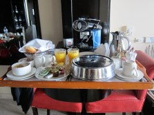 Breakfast brought to the room