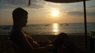 Sunset over the Andaman sea