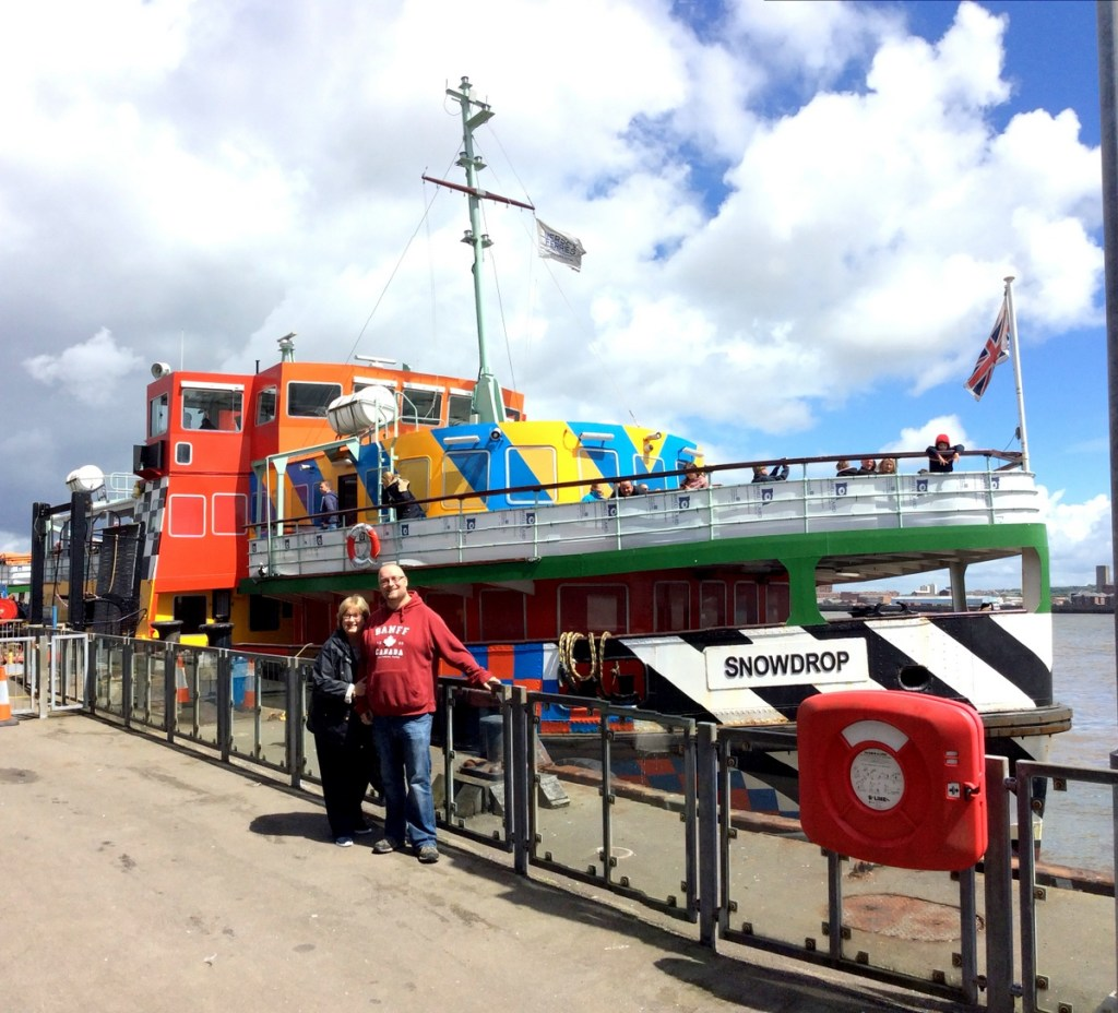 "The Dazzle Ferry ""Snowdrop"", operated by Mersey Ferries; from a travel blog by www.traveljunkiegirl.com"