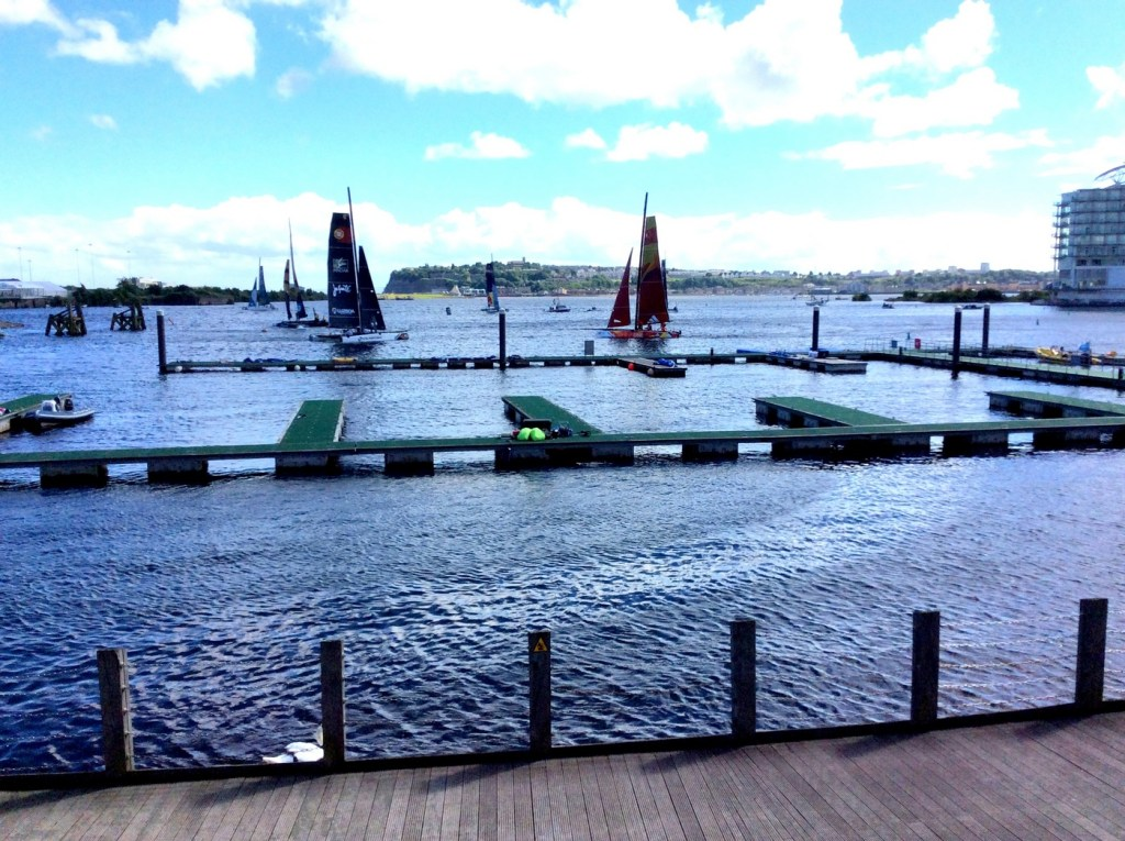 Extreme Sailing competition at Cardiff Bay, 24 - 26th June 2016; from a travel blog by www.traveljunkiegirl.com